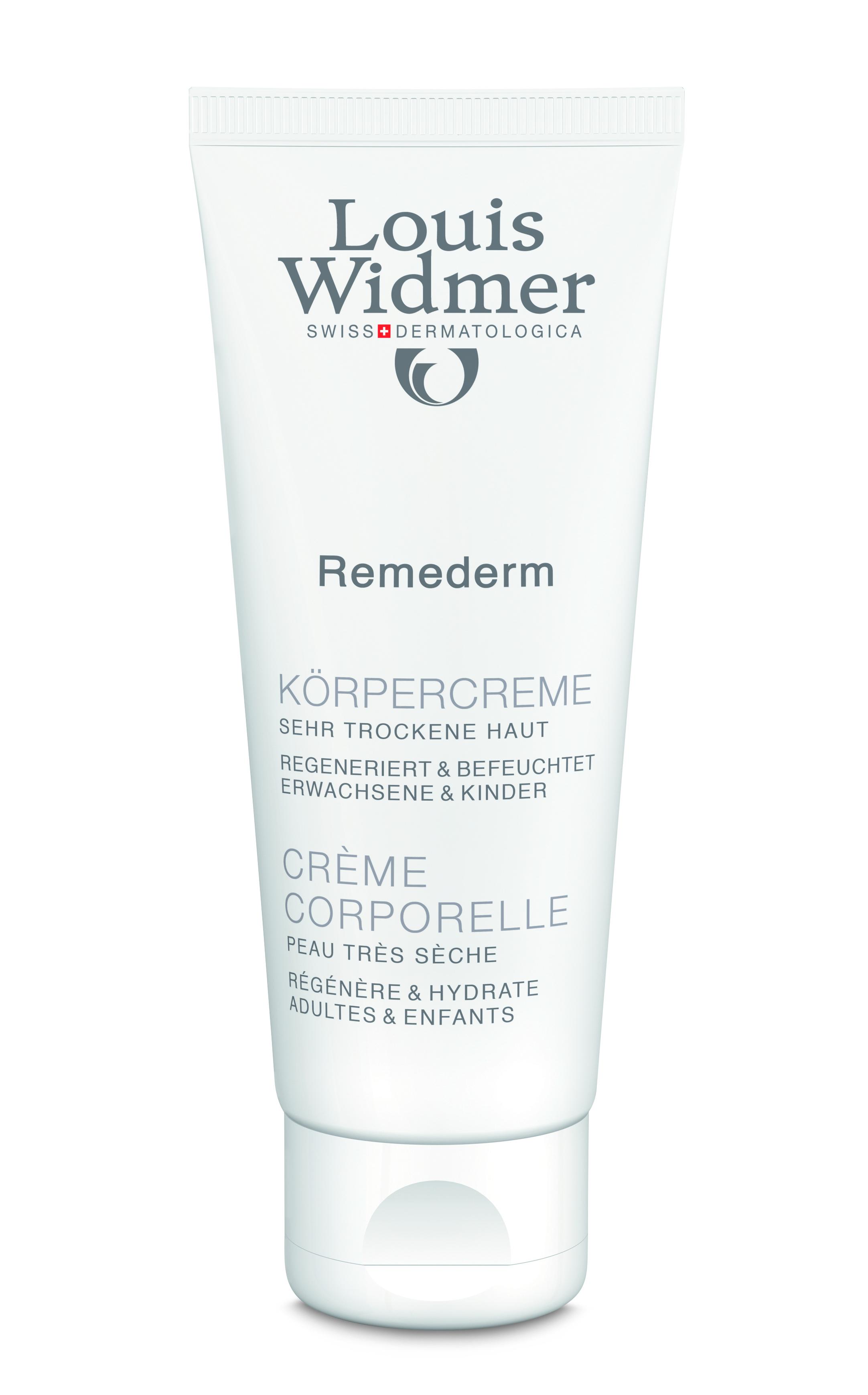LOUIS WIDMER Remederm Körpercreme – 75 ml, ohne Parfüm